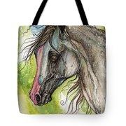 Piber Polish Arabian Horse Watercolor Painting 3 Tote Bag