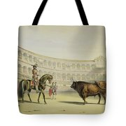 Picador Challenging The Bull, 1865 Tote Bag