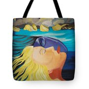 Picasso Inspired Hand Embroidery Tote Bag