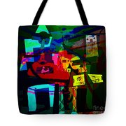 Picasso With A Twist Of Color. Tote Bag