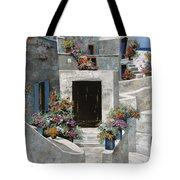 piccole case bianche di Grecia Tote Bag