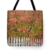 Picket Fence Fall Tote Bag