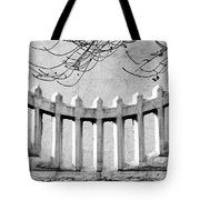 Picket Moon - Fence - Wall Tote Bag