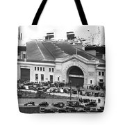 Pickets At The Sf Docks. Tote Bag