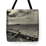 Picketts Charge The Angle Black And White Tote Bag