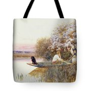 Picking Blossoms Tote Bag