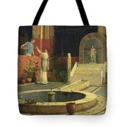 Picking Flowers From The Courtyard Tote Bag