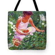 Picking Strawberries Tote Bag