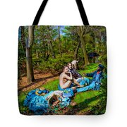 Picnic In The Nude Tote Bag