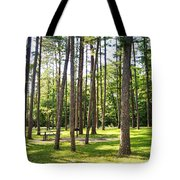 Picnic In The Pines Tote Bag