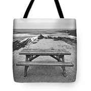 Picnic - Lone Table Overlooking The Ocean In Montana De Oro State Park In Caliornia Tote Bag