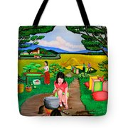 Picnic With The Farmers Tote Bag