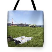 Picnicking At Golden Gate Park Tote Bag