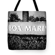 Pictue Of Balboa Marina Sign In Newport Beach Tote Bag