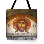 Picture Of Jesus Inside The Tsminda Sameba Cathedral Tbilisi Tote Bag by Robert Preston