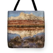 Picturesque Blue Canyon Formations Tote Bag