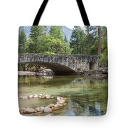Picturesque Bridge In Yosemite Valley Tote Bag