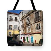 Picturesque Houses In Lisbon Tote Bag