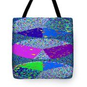 Pie Chart Twirl Tornado Colorful Blue Sparkle Artistic Digital Navinjoshi Artist Created Images Text Tote Bag