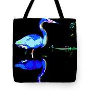Pied Heron Tote Bag