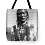 Piegan Indian Man Circa 1909 Tote Bag by Aged Pixel