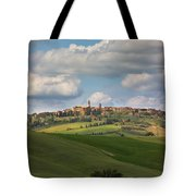 Pienza In The Afternoon Panorama Tote Bag