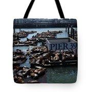 Pier 39 San Francisco Bay Tote Bag