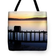 Pier At Bodega Bay California Tote Bag
