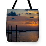 Pier At Buttonwood Sound Tote Bag