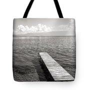 Pier At Lake Ohrid Tote Bag