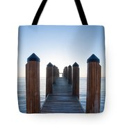 Pier By Sea Tote Bag