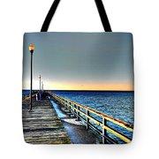 Pier - Chesapeake Bay Bridge #1 Tote Bag