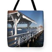 Clock Tower Pier Tote Bag