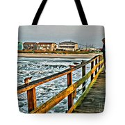 Pier Fishing 2 Tote Bag