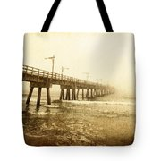 Pier In A Storm Tote Bag