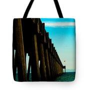 Pier Into The Horizon Tote Bag