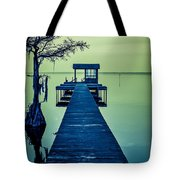 Pier On The Lake Tote Bag