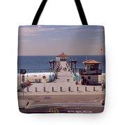 Pier Over An Ocean, Manhattan Beach Tote Bag