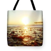 Pier Shells And Sunrise 15 10/2 Tote Bag