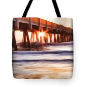 Pier Sunrise Too Tote Bag