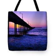 Pier Sunset Ocean Beach Tote Bag