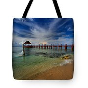 Pier To Paradise Tote Bag