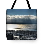 Piercing Cold Rays Upon The Waters Winter 2013 Tote Bag