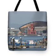 Pierhead Building In Cardiff Bay Tote Bag