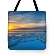 Pierhead Polar Vortex Sunrise Tote Bag