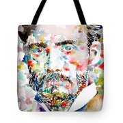 Pierre-auguste Renoir Watercolor Portrait Tote Bag