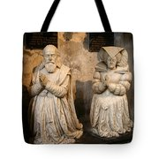 Pierre Jeannin And His Wife Sculpture Cathedral Autun Tote Bag