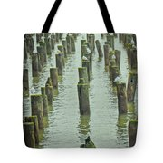 Piers And Birds Tote Bag