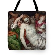 Pieta And Angels Tote Bag