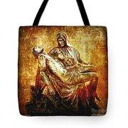 Pieta Via Dolorosa 13 Tote Bag by Lianne Schneider
